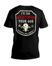 I'm The Heathen - Viking Shirt V-Neck T-Shirt thumbnail