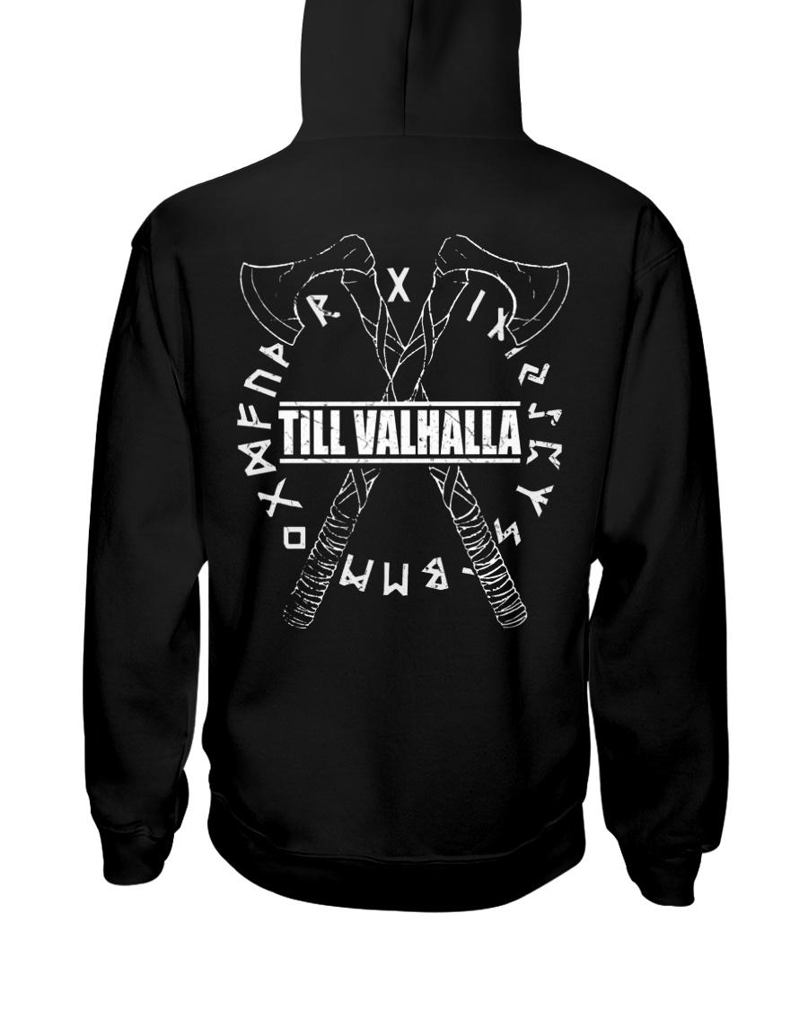 Viking Shirt : Till Valhalla Rune Hooded Sweatshirt