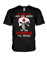 NOT THE HERO YOU WANTED - Viking Shirt V-Neck T-Shirt thumbnail