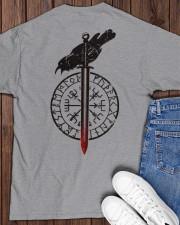 Raven Vegvisir  - VIKING T-SHIRTS Classic T-Shirt apparel-classic-tshirt-lifestyle-back-159