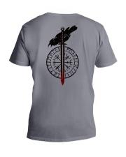 Raven Vegvisir  - VIKING T-SHIRTS V-Neck T-Shirt thumbnail