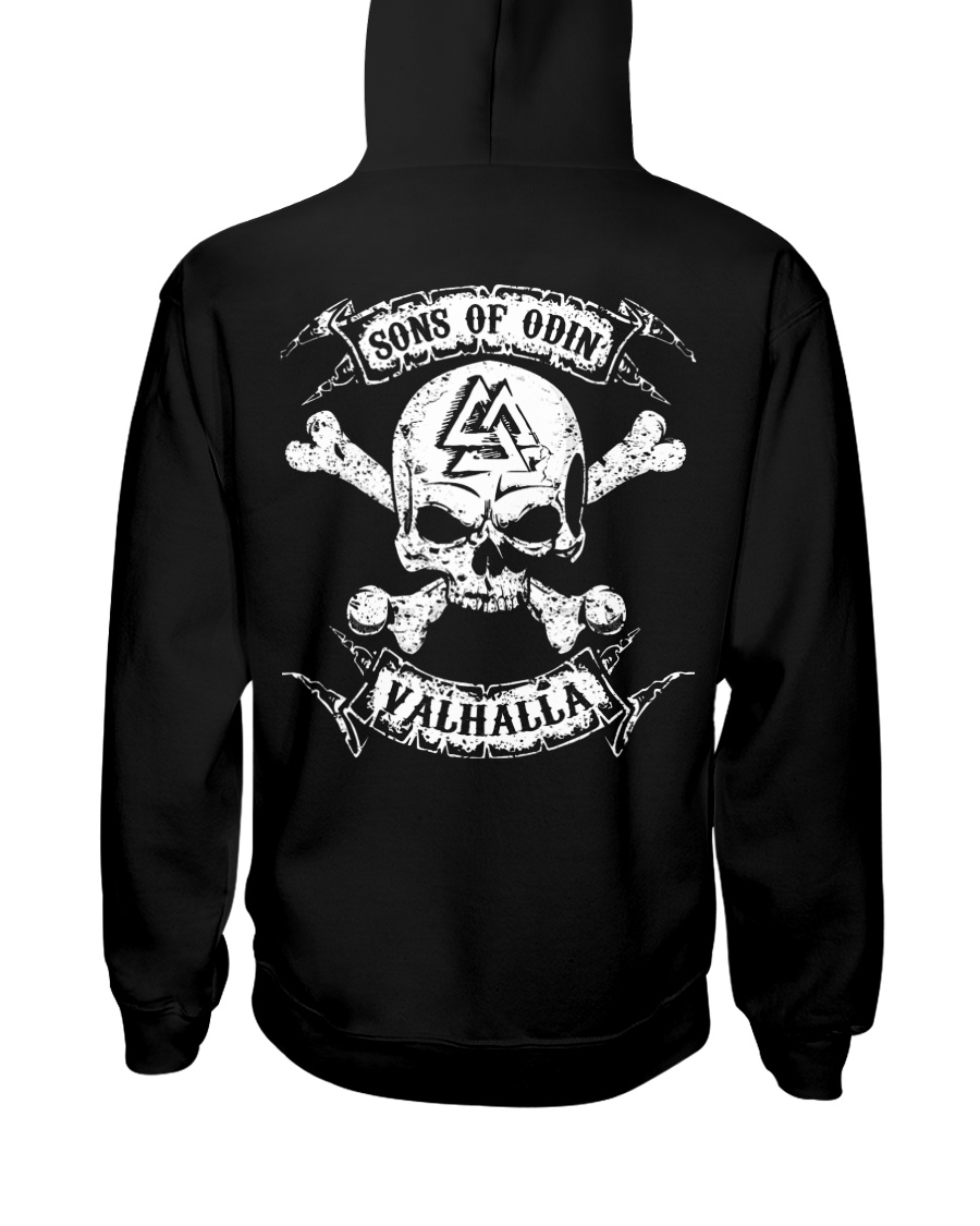 Sons Of Odin  Valhalla - Viking Shirt Hooded Sweatshirt
