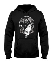 Raven Wolf - Viking Shirt Hooded Sweatshirt thumbnail