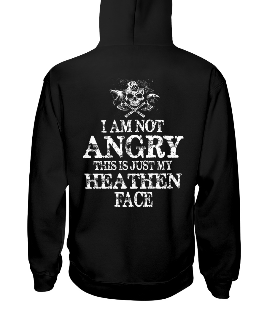 This Is Just My Heathen Face - Viking Shirt Hooded Sweatshirt