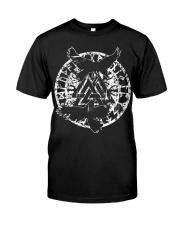 Viking Shirt - Raven Vegvisir Rune Classic T-Shirt front
