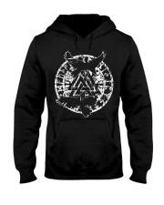 Viking Shirt - Raven Vegvisir Rune Hooded Sweatshirt thumbnail
