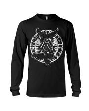 Viking Shirt - Raven Vegvisir Rune Long Sleeve Tee tile