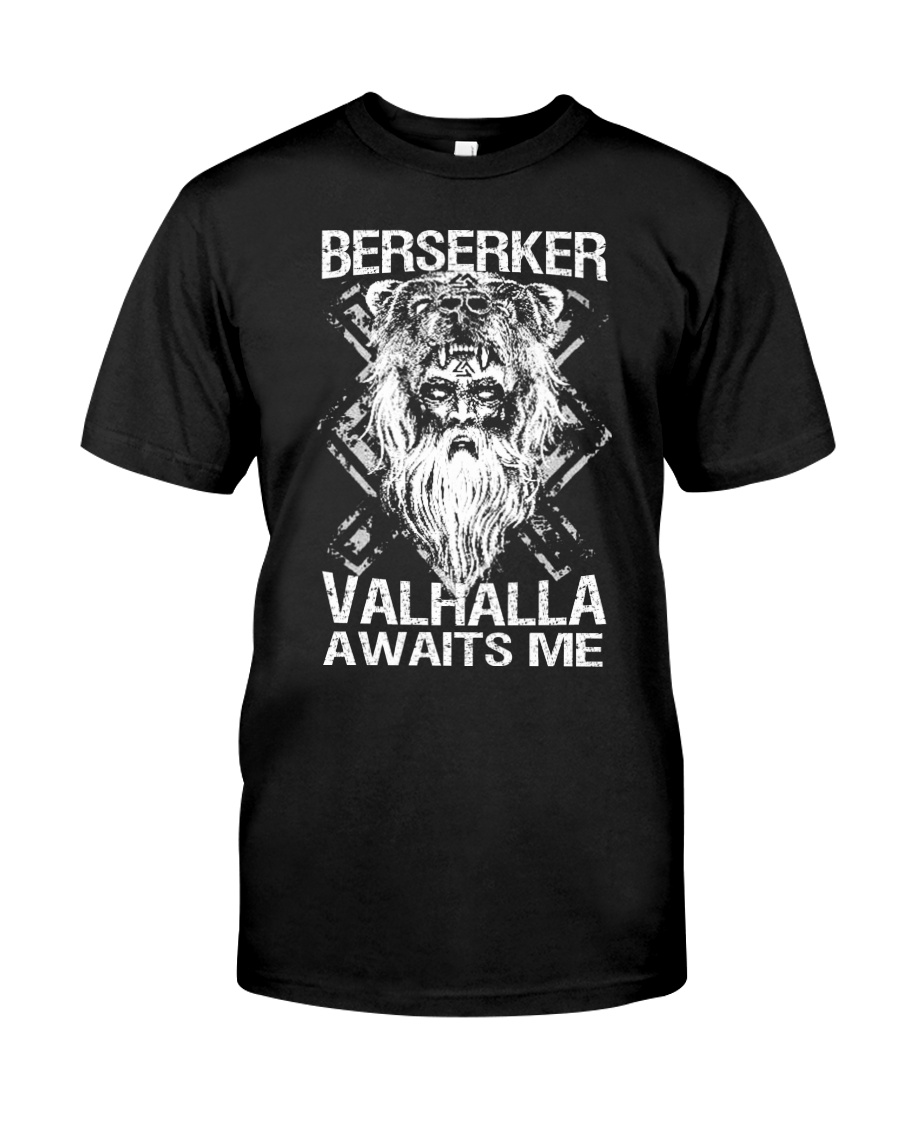 Viking Shirt : Berserker Valhalla Awaits Me Classic T-Shirt