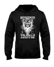Viking Shirt : Berserker Valhalla Awaits Me Hooded Sweatshirt thumbnail