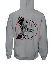 Viking Shirt - Raven and Symbol Viking Hooded Sweatshirt tile
