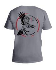 Viking Shirt - Raven and Symbol Viking V-Neck T-Shirt tile