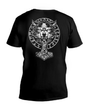 Wolf and Hammer - Viking Shirt V-Neck T-Shirt thumbnail