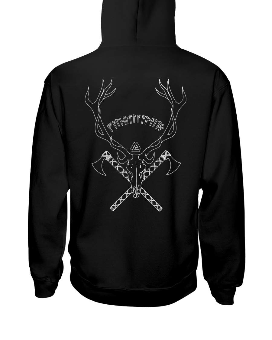 Valhalla Attend - Viking Shirt Hooded Sweatshirt