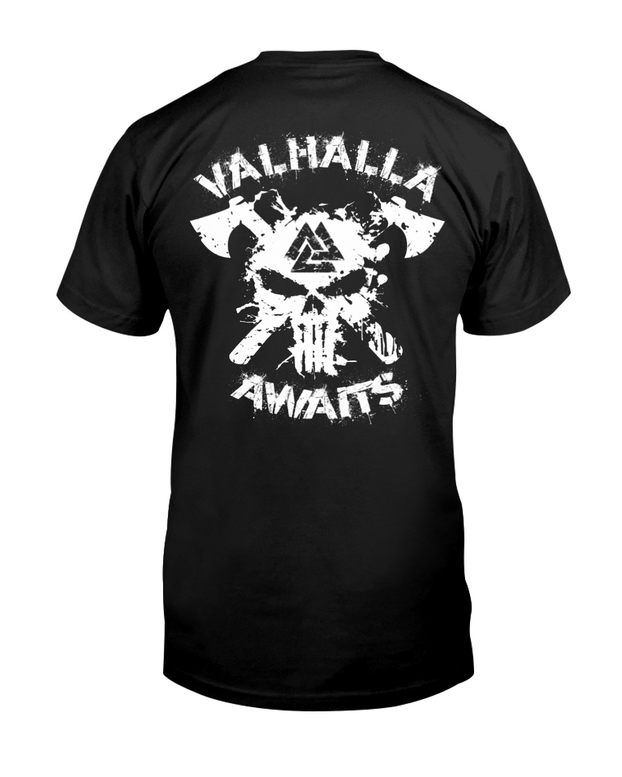 Viking Shirt - Valhalla Awaits Viking Classic T-Shirt