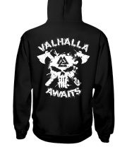 Viking Shirt - Valhalla Awaits Viking Hooded Sweatshirt thumbnail