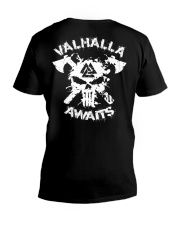 Viking Shirt - Valhalla Awaits Viking V-Neck T-Shirt thumbnail