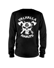Viking Shirt - Valhalla Awaits Viking Long Sleeve Tee thumbnail