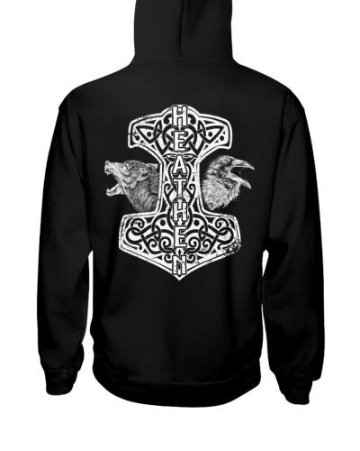 Hammer Heathen Wolf Raven - Viking Shirt
