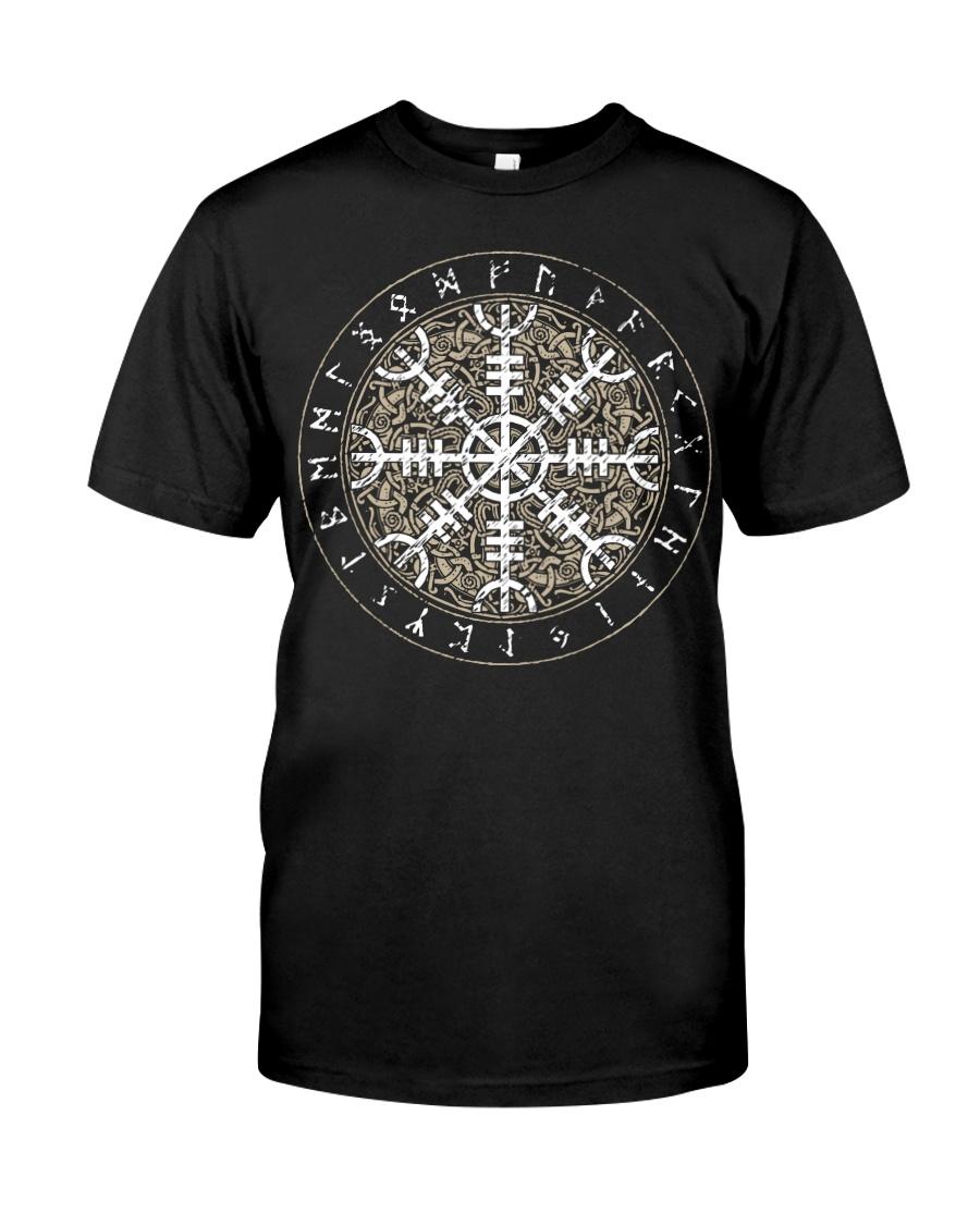 Viking Shirt - Vegvisir Rune Art Classic T-Shirt