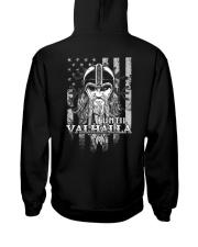 Odin Flag - Until Valhalla - Viking Shirt Hooded Sweatshirt back