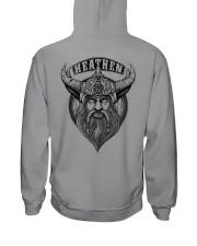 Heathen Odin  - Viking Shirt Hooded Sweatshirt back
