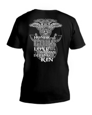 HONOR THE GOD - VIKING T-SHIRTS V-Neck T-Shirt thumbnail