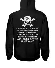 I Came Into This World - Viking Shirt Hooded Sweatshirt back