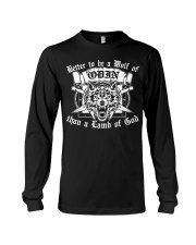 Viking Shirt - To Be A Wolf Of Odin Long Sleeve Tee tile