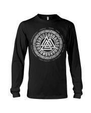 Viking Valknut Mean - Viking Shirts Long Sleeve Tee thumbnail