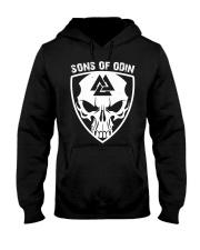 Viking Shirt - Sons Of Odin - Skull Valknut Hooded Sweatshirt thumbnail