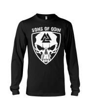 Viking Shirt - Sons Of Odin - Skull Valknut Long Sleeve Tee thumbnail