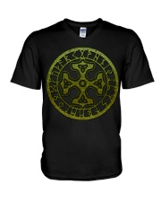 Viking Shirts : Thor's Hammer with Triquetra V-Neck T-Shirt thumbnail