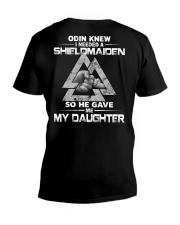 Viking Shirt - Odin Knew I Needed A Shieldmaidem V-Neck T-Shirt thumbnail