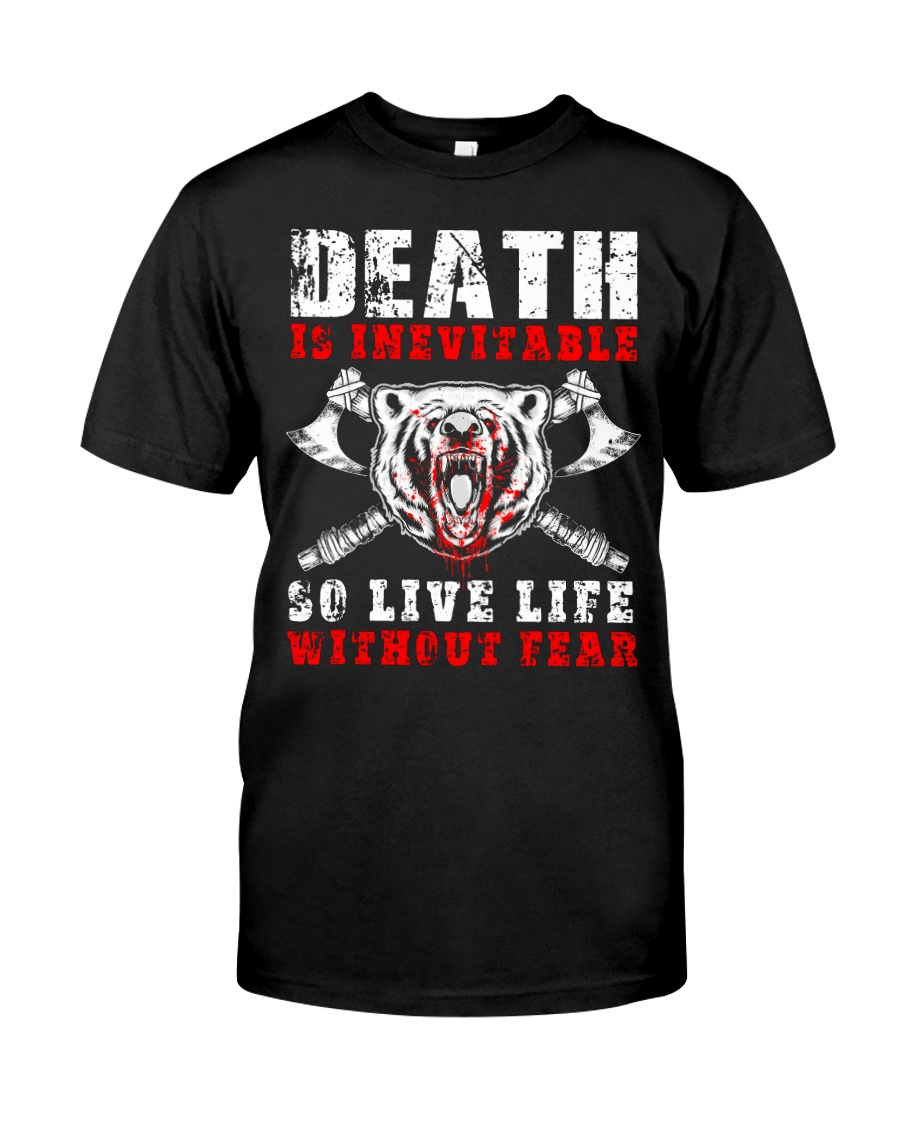 Viking Shirt - Live Life Without Fear Classic T-Shirt