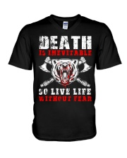 Viking Shirt - Live Life Without Fear V-Neck T-Shirt tile