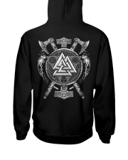 Viking Valknut - Viking Shirt Hooded Sweatshirt back