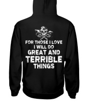 I Will Do Great And Terrible Things - Viking Shirt Hooded Sweatshirt back