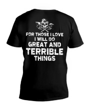 I Will Do Great And Terrible Things - Viking Shirt V-Neck T-Shirt thumbnail