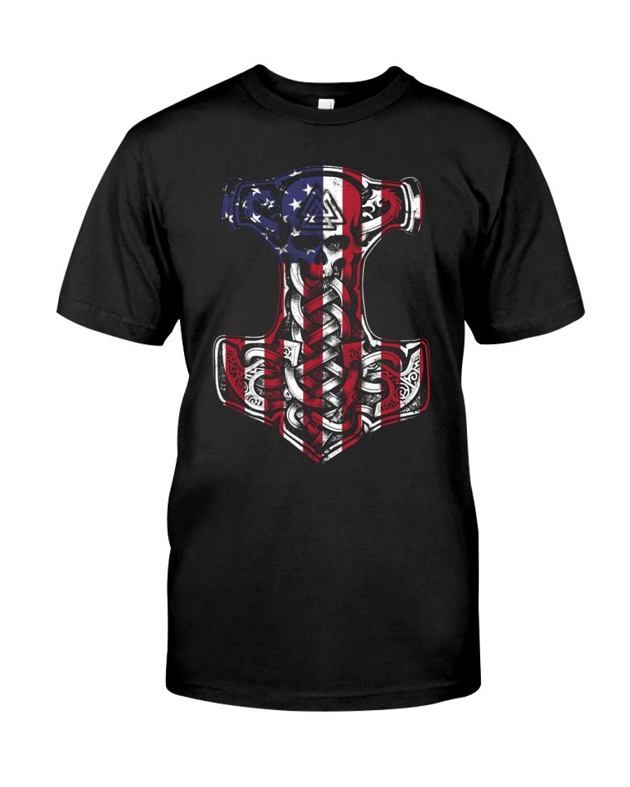 HAMMER FLAG - VIKING T-SHIRTS Classic T-Shirt