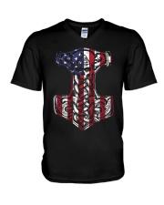 HAMMER FLAG - VIKING T-SHIRTS V-Neck T-Shirt tile