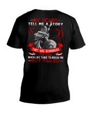 My Scars Tell Me A Story - Viking Shirt V-Neck T-Shirt thumbnail