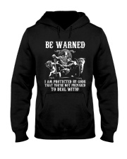 Viking Shirt - Be Warned Hooded Sweatshirt tile