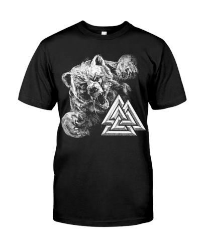 Bear Valknut - Viking Shirt