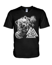 Bear Valknut - Viking Shirt V-Neck T-Shirt thumbnail