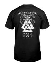 Odin Raven Valknut Vegvisir - Viking Shirt Classic T-Shirt thumbnail