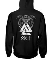 Odin Raven Valknut Vegvisir - Viking Shirt Hooded Sweatshirt back