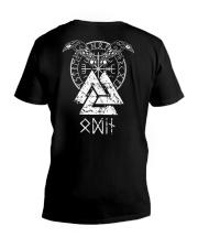 Odin Raven Valknut Vegvisir - Viking Shirt V-Neck T-Shirt thumbnail