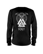 Odin Raven Valknut Vegvisir - Viking Shirt Long Sleeve Tee thumbnail