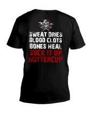 Sweat Dries Blood Clots Bones Heal - Viking Shirt V-Neck T-Shirt thumbnail