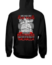 Brothers Await Him In The Halls Of Valhalla Viking Hooded Sweatshirt back